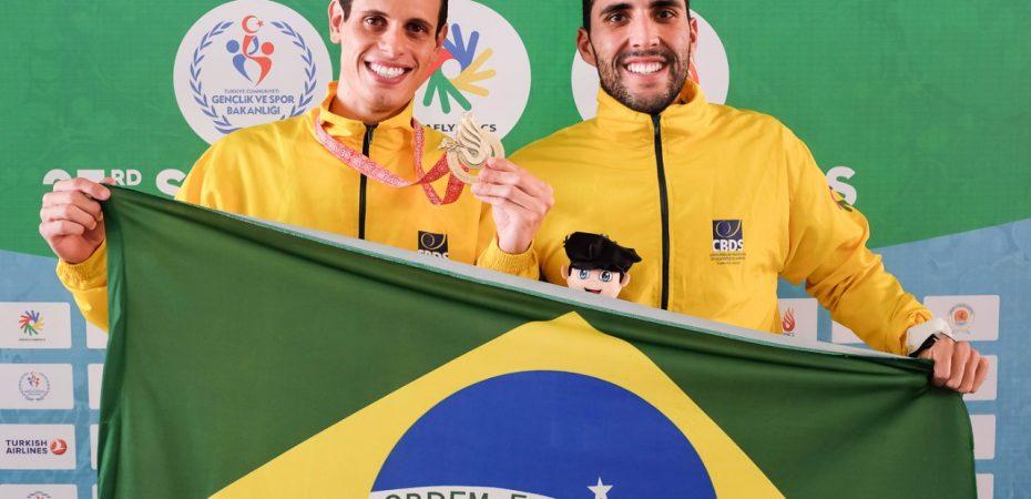 Guilherme Maia e seu treinador Guilherme Monteiro contam em entrevista a conquista de ouro inédito