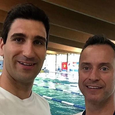 Nadador paralímpico português David Grachat no World Para Swimming Series em Lignano na Itália