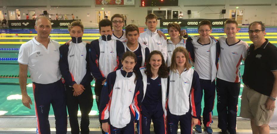 Junge Luxemburger Schwimmer messen sich in der Bochumer Arena