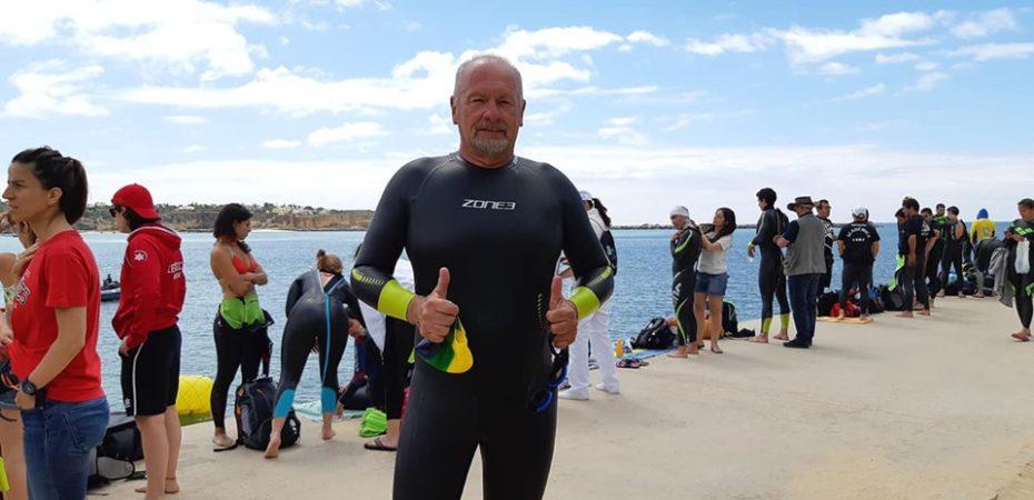 Projeto Nadando Pelos Cartões Postais no Open de Portugal 1.5 Master de Natação de Portimão