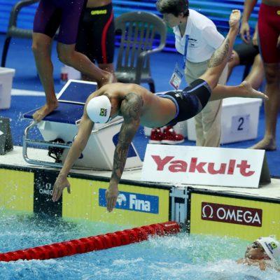 Revezamento 4 x 100m livre do Brasil avança à final do Mundial da Coreia e conquista vaga para Tóquio 2020 na Coreia