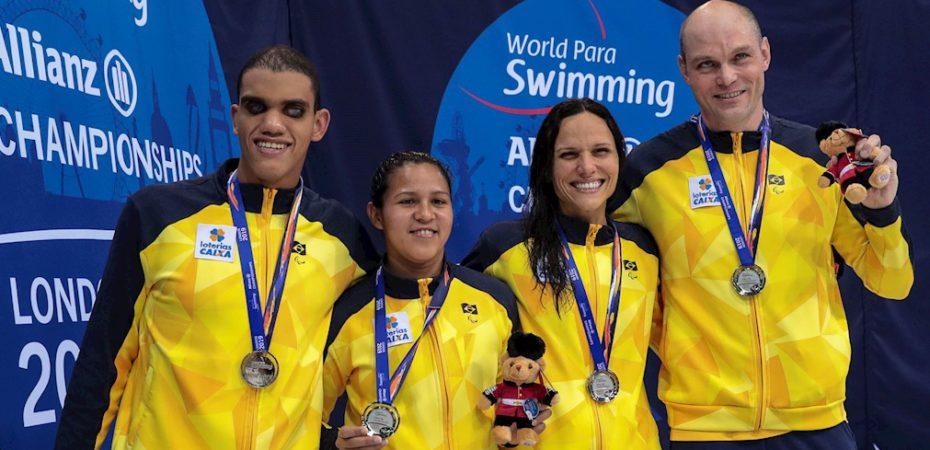 Brasil chega ao último dia do Mundial de Natação Paralímpica, em Londres, com 15 medalhas