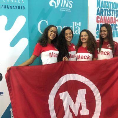 Nado Artístico do Mackenzie Brasília volta do Pan-Americano com medalha inédita