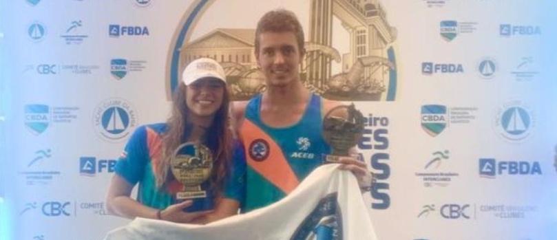 Baianos Aricia Peree e Thiago Oliveira vencem Copa CBC de Maratonas Aquáticas