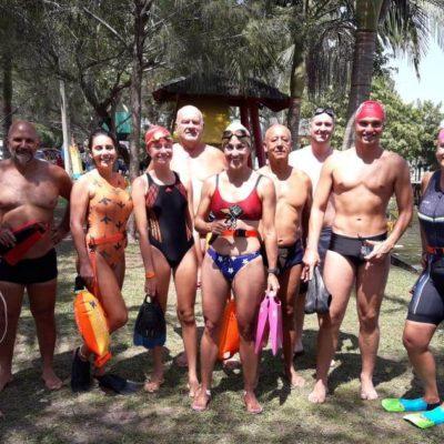Lagoa da Tapera reúne nadadores e triatletas para treino especial